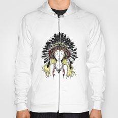 Native American Girl (colored) Hoody