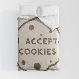 I Accept Cookies Comforters