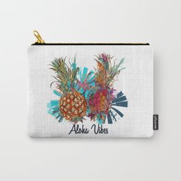 Tropical Hawaii design with funky pineapple Carry-All Pouch