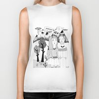 coconut wishes Biker Tanks featuring COCONUT HEART by BOMOCOEUR