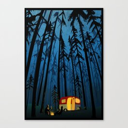 twilight camping Canvas Print