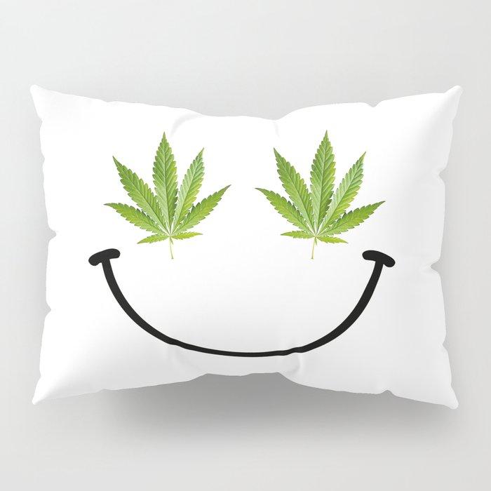 Weed Smile Pillow Sham