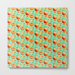Peaches Pattern Metal Print