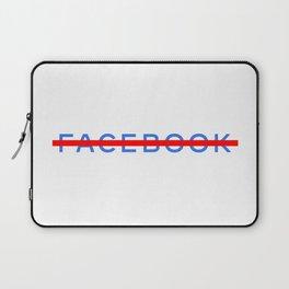 FACEBOOK STRIKETHROUGH Laptop Sleeve