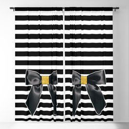 Bow + Stripe Blackout Curtain