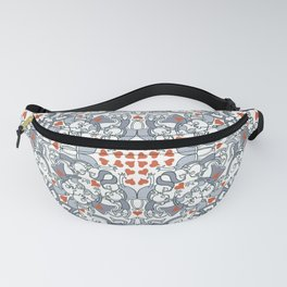 Kisses of love in a mandala design for Valentine's Day Fanny Pack