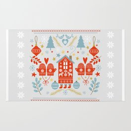 Laplander Winter Holiday Rug