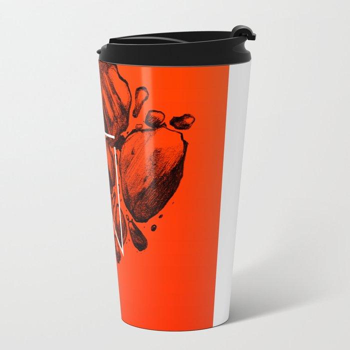 Old School Rocks (Orange Rock Version) Travel Mug