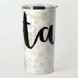 Golden Stars Travel Mug