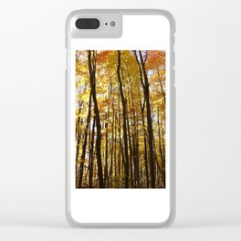 Yellow Trees Clear iPhone Case