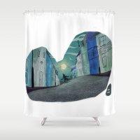 werewolf Shower Curtains featuring Werewolf by David Pavon