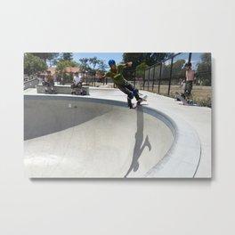Pat Ngoho. Railslide Metal Print