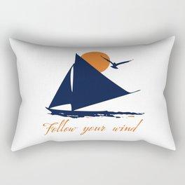 Follow your winds (sail boat) Rectangular Pillow