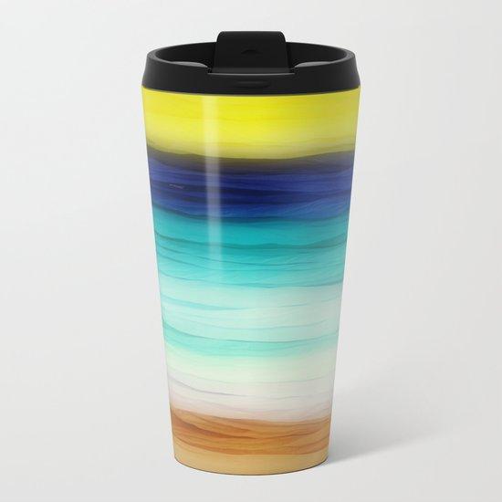 beach abstract Metal Travel Mug