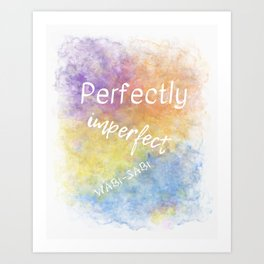 Perfectly Imperfect - Wabi-Sabi (white, blue, orange, yellow, purple) Art Print
