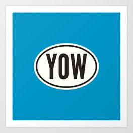 Ottawa Ontario Canada YOW • Oval Car Sticker Design with Airport Code • Ocean Blue Art Print