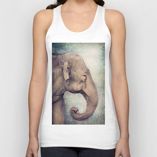 The smiling Elephant Unisex Tank Top