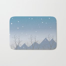 Winter landscape with trees Bath Mat
