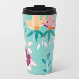 Exotic Flower Pattern Travel Mug