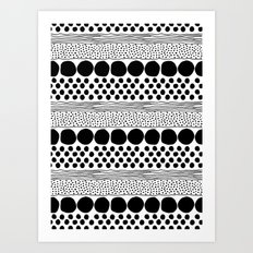 Dots and Lines Art Print