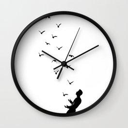 Set Free #society6 #decor #buyart Wall Clock