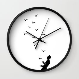 Set Free #society6 #decor #buyart Wall Clock
