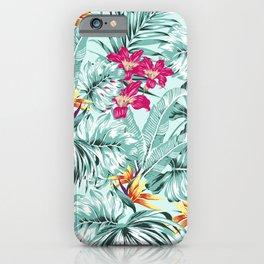Bird of Paradise Greenery Aloha Hawaiian Prints Tropical Leaves Floral Pattern iPhone Case