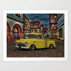 1957 3100 #Chevy Truck poster. Art Print