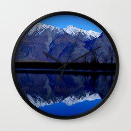 Knik River Mts Wall Clock