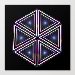 Dazzling 80s Hexagon  Canvas Print