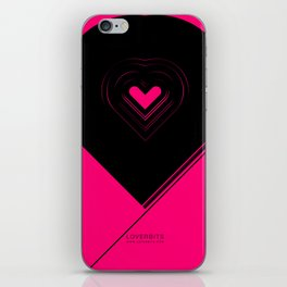 CRYPTIC HIPSTER HEART. iPhone Skin