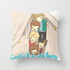 One Direction Live Like We're Young Cartoon 2 Throw Pillow