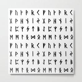 Nordic Runes Metal Print
