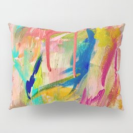Wild Child: a colorful, vibrant abstract piece in neon and bold colors Pillow Sham