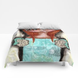 Mixed Media Fairy Girl 4 Comforters