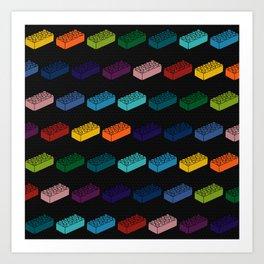 Game Bricks Pattern Art Print