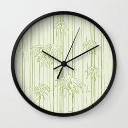 Bamboo Ornament Wall Clock