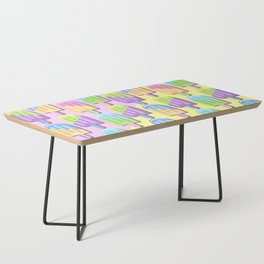 Ice Lollipops Popsicles Summer Punchy Pastels Colors Pattern Coffee Table