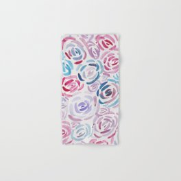 2  |  190411 Flower Abstract Watercolour Painting Hand & Bath Towel