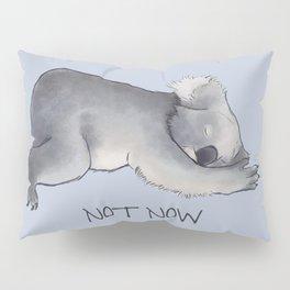 Koala Sketch - Not Now - Lazy animal Pillow Sham