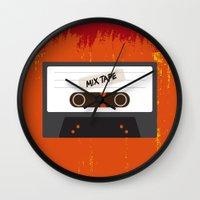 cassette Wall Clocks featuring Cassette by Ruveyda & Emre