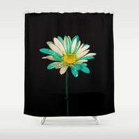 daisy Shower Curtains featuring Daisy by Veronica Ventress