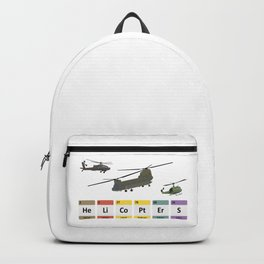 Military Helicopters Chemistry Backpack