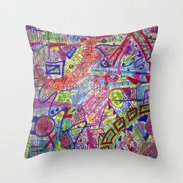 Brain Dump Throw Pillow