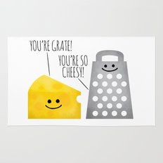 Cheesy Couple Rug