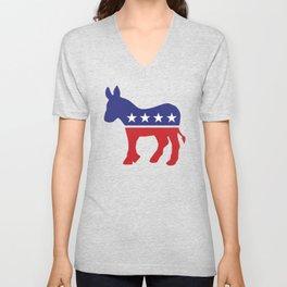 Democrat Original Donkey Unisex V-Neck