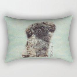Sketch  of fluffy  Pekingese puppy Rectangular Pillow