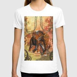 Steampunk, steampunk elephant T-shirt