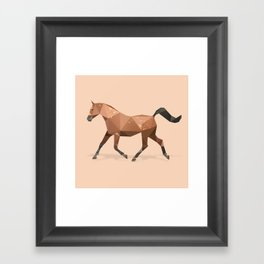 Arabian Stallion Horse. Framed Art Print