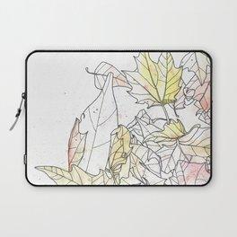 Autumn Leaves Watercolor Laptop Sleeve